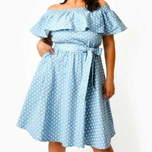Off-Shoulder Ruffle Nashville Swing Dress